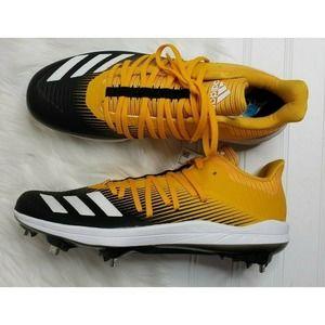 adidas adizero Afterburner 6 Cleats Yellow Sz 9.5